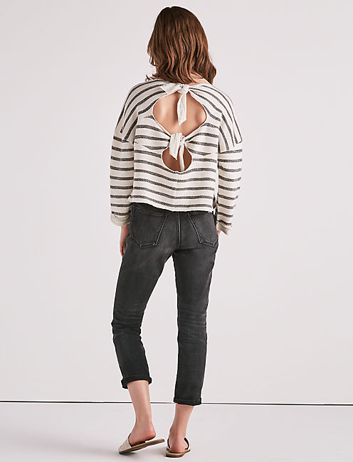 Lucky Stripe Tie Back Pullover