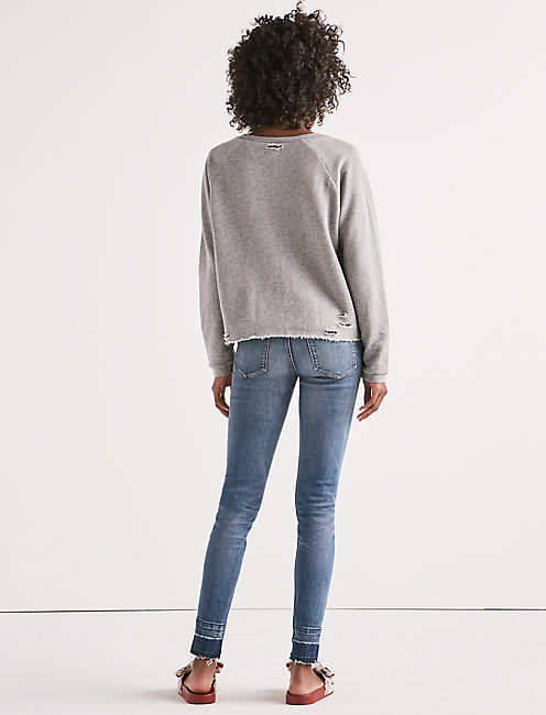 LUCKY BRAND DECONSTRUCTED PULLOVER,
