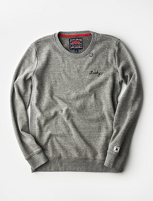 MADE IN L.A. LUCKY EMBROIDERED PULLOVER,
