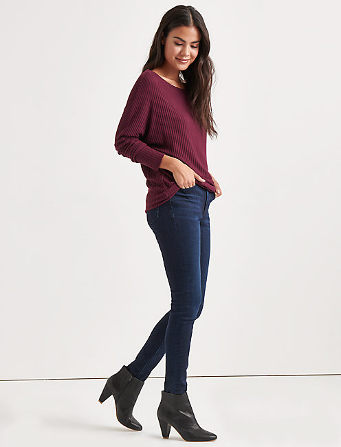 Lucky Brushed Dolman Pullover