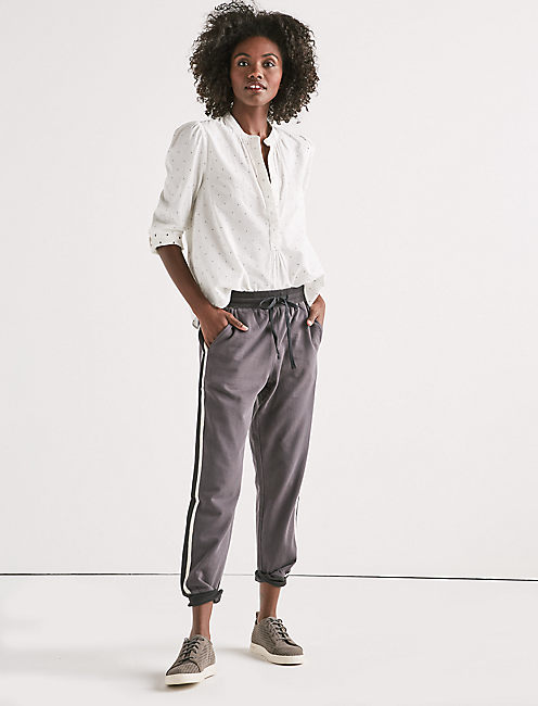 RIBBED COLORBLOCK JOGGER PANTS,