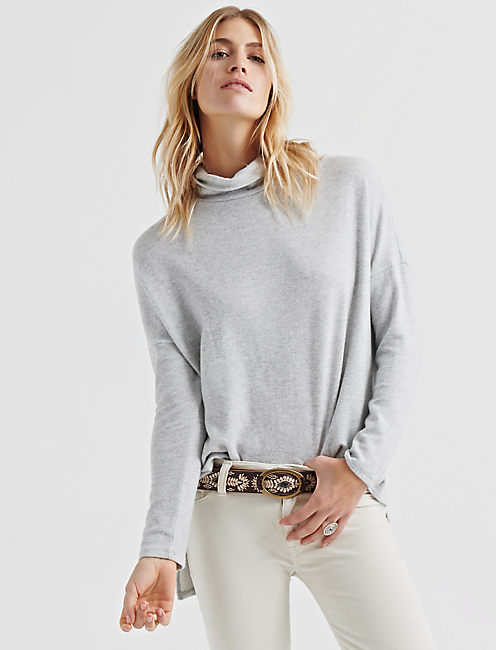 CLOUD JERSEY COWL NECK PULLOVER,
