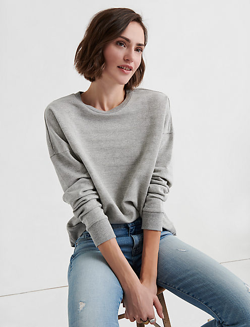 SUBTLE SHINE STRIPE PULLOVER,