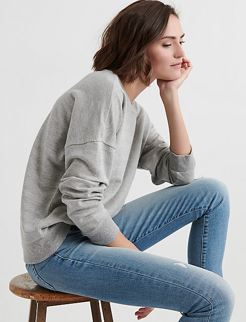 Lucky Subtle Shine Stripe Pullover