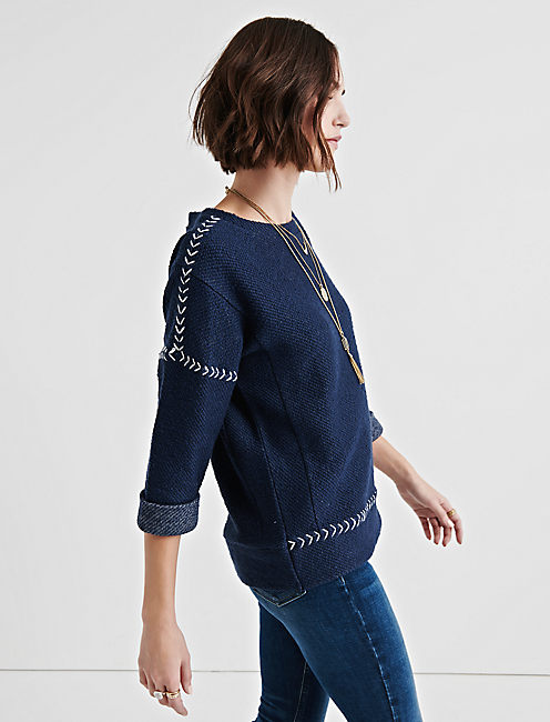 Lucky Embroidered Pullover