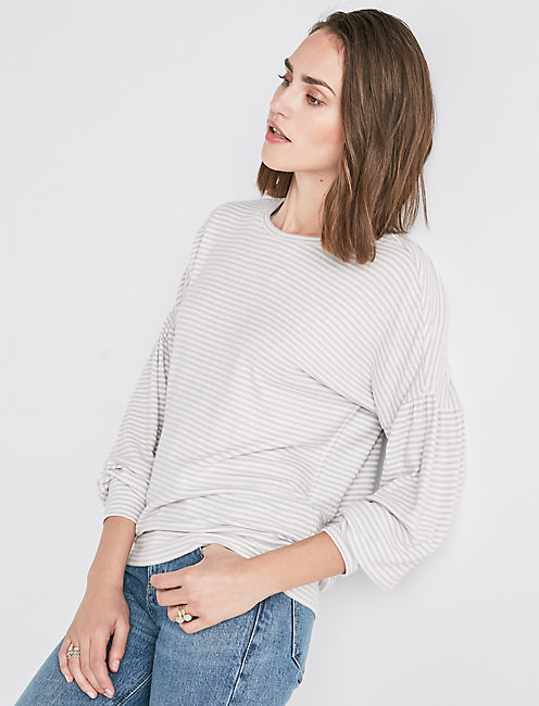 CLOUD JERSEY BLOUSON SLEEVE PULLOVER,