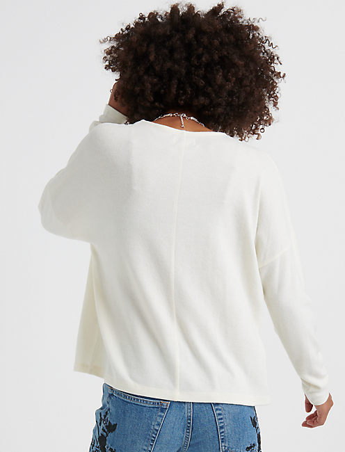 CLOUD JERSEY POCKET PULLOVER, CREAM