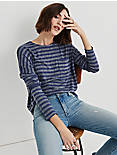 CLOUD JERSEY STRIPED POCKET PULLOVER,