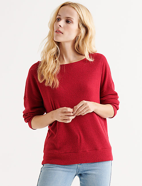 CLOUD JERSEY RIB PULLOVER,