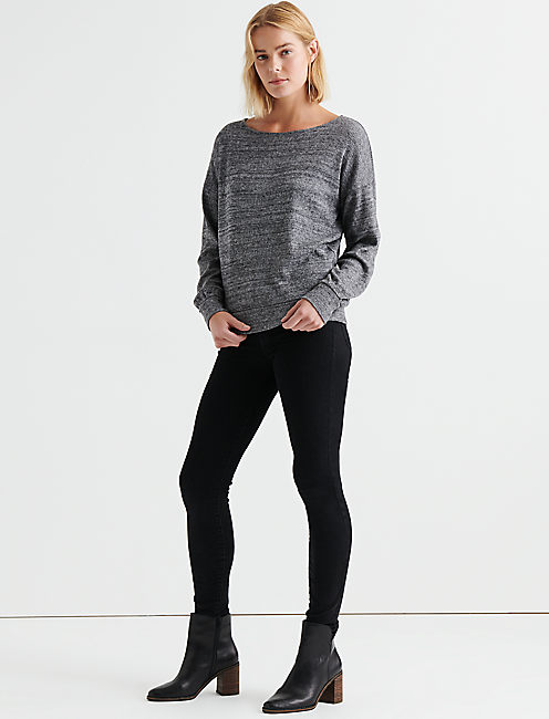 Lucky Cloud Jersey Rib Pullover