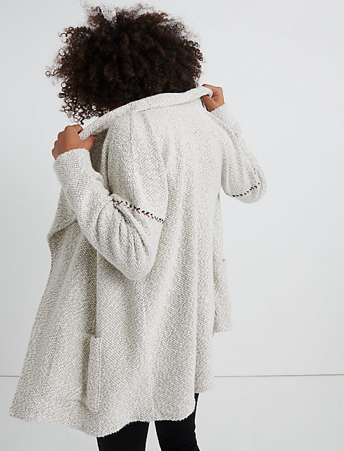 BLANKET STICH CARDIGAN, NATURAL MULTI