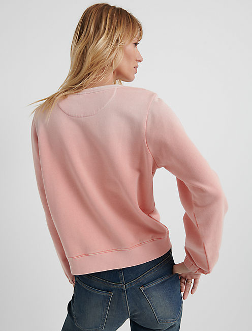 LUCKY WASHED PULLOVER, #6675 CHERRIE JUBILEE