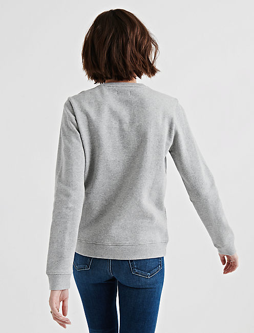 EMBROIDERED CRANE PULLOVER,