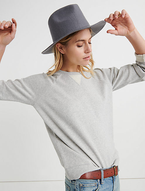 Heather Grey Raglan Pullover