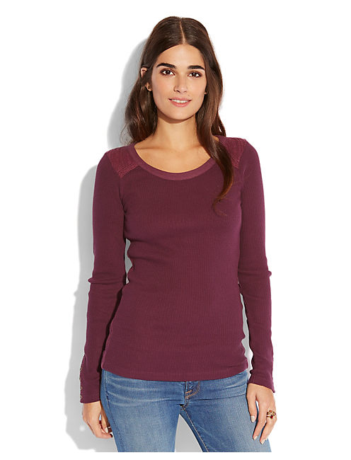 SWEATER BACK THERMAL, #5309 POTENT PUPLE