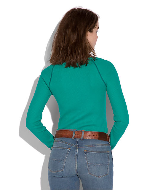 CELINE HENLEY THERMAL, #3883 DYNASTY GREEN