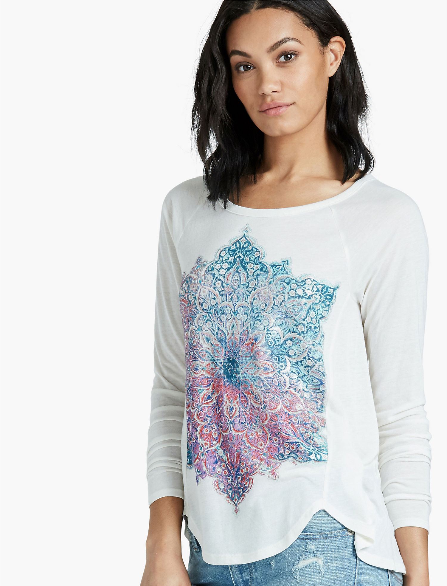 Enjoy Shopping Mandala Graphic Tee (Plus Size) Lucky Brand Best Place Sale Online SEgAr