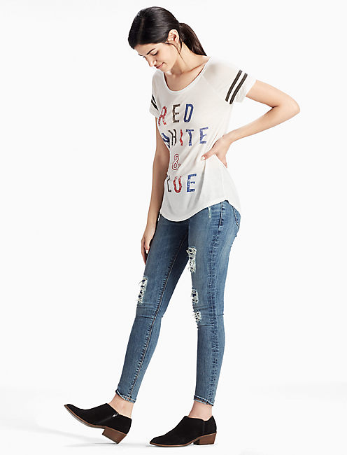 RED WHITE & BLUE TEE,