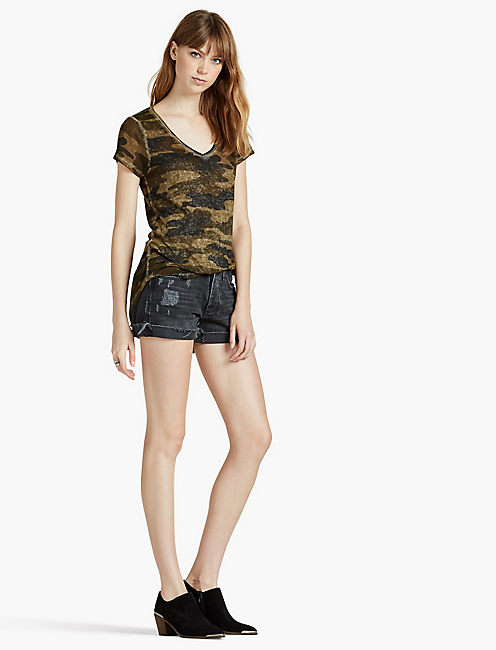 Lucky Camo Burnout Tee