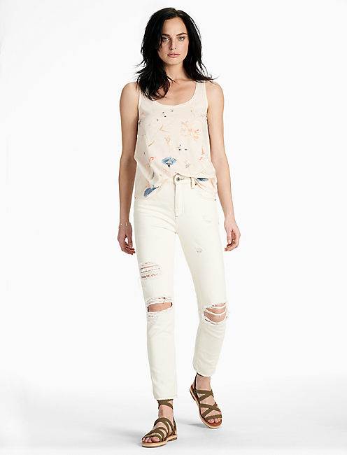FLORAL EMBROIDERED TANK,