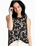 EMBROIDERED TANK, 001 LUCKY BLACK