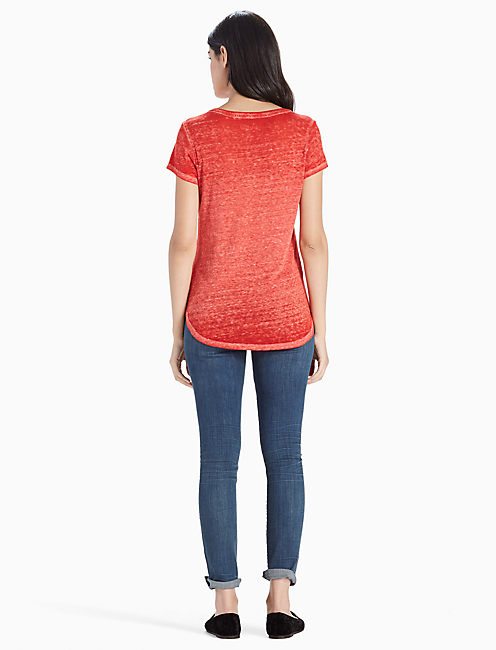 HARMONY CHEETAH TEE, MARS RED
