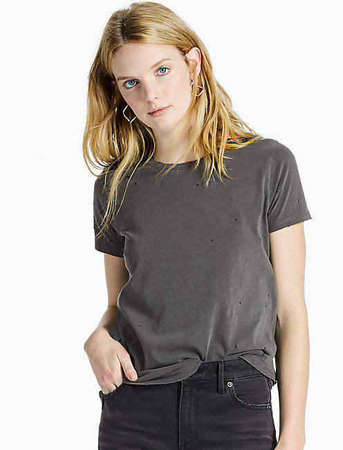 DISTRESS TEE, BLACK MOUNTAIN