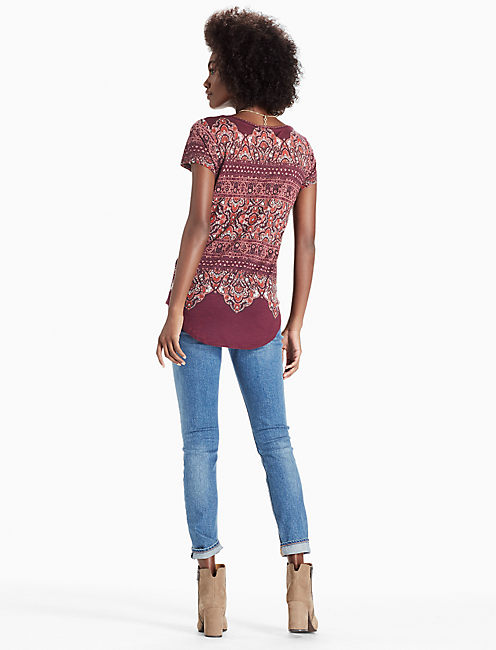 ORNATE BORDER TEE, MULTI