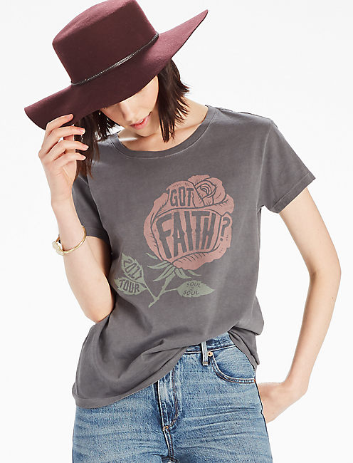 SOUL2SOUL GOT FAITH TEE, BLACK MOUNTAIN