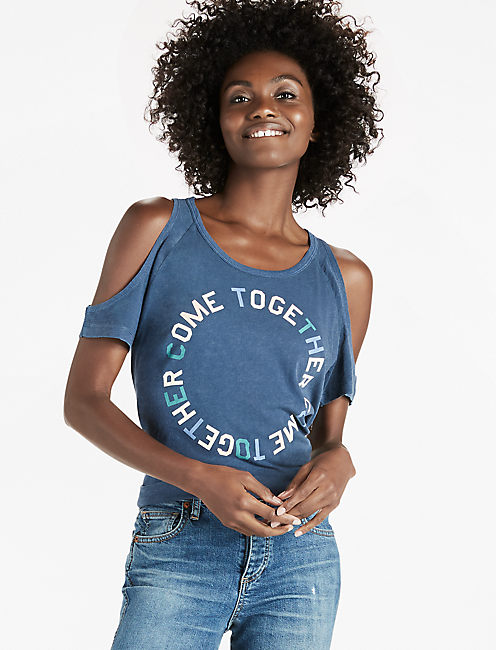 COME TOGETHER TEE, AMERICAN NAVY