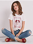 HEART MATCHBOX RUCHED BACK TEE,