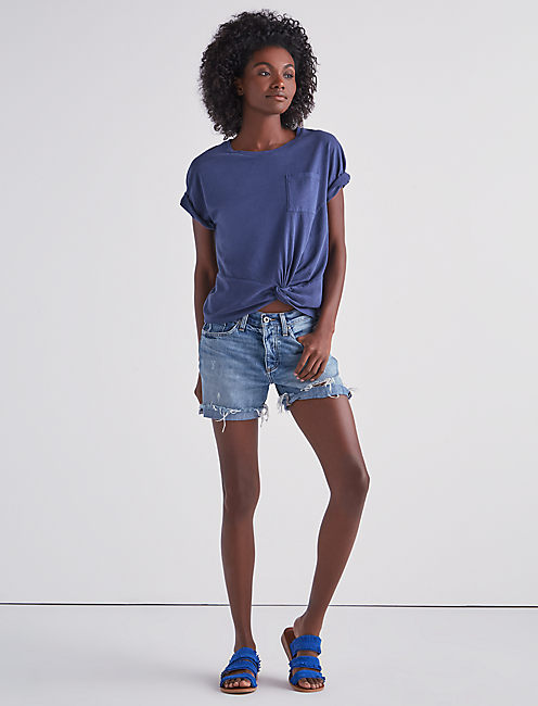 Lucky Twist Front Short Sleeve Tee