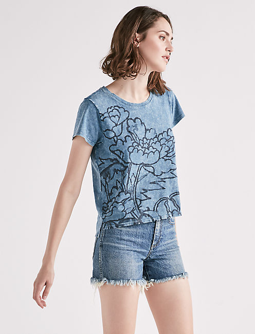 WASHED FLOWER TEE,