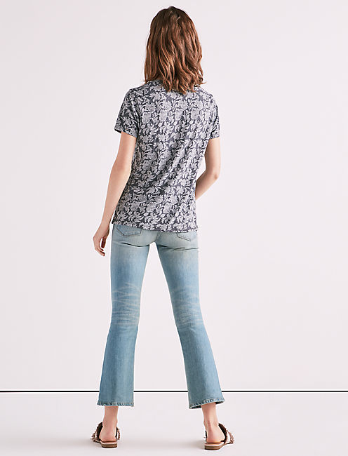 ALL OVER BURNOUT PRINT TEE,