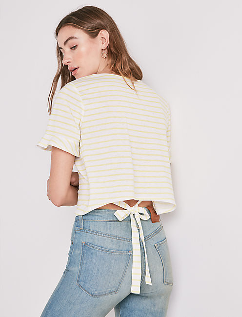 YELLOW STRIPE TEE,