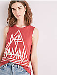 DEF LEPPARD SIDE LACE UP TEE, RED