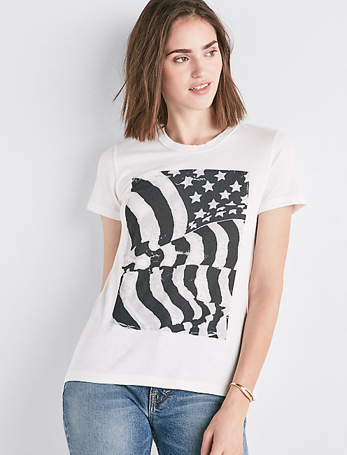 FLAG ROUCHE BACK TEE,