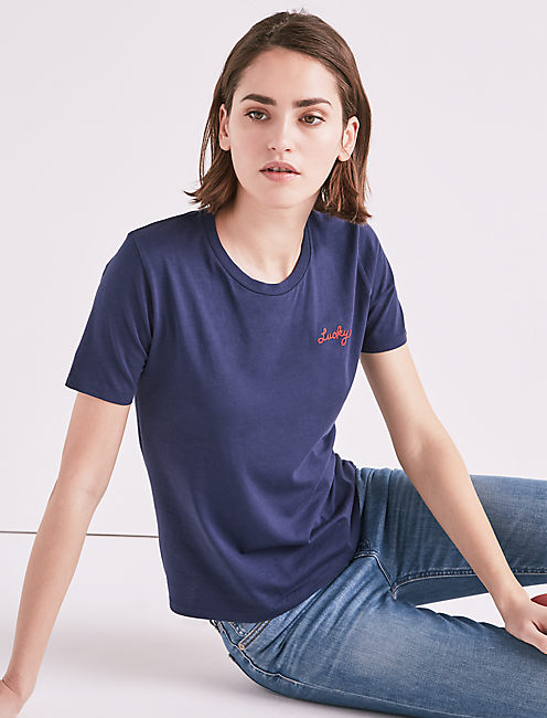 MADE IN L.A. LUCKY TEE, AMERICAN NAVY