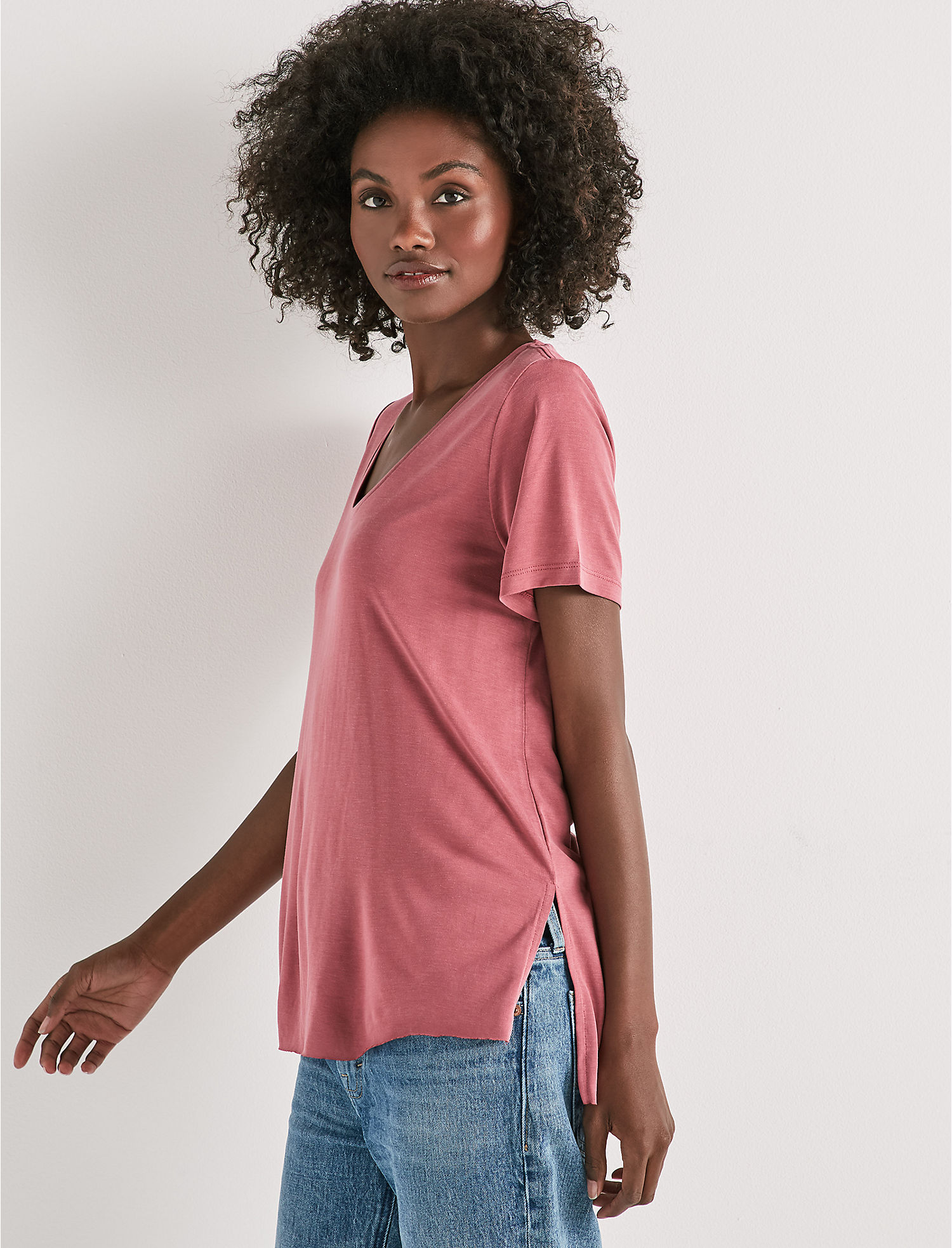 Sandwash Scoop Neck Tee. | Tuggl