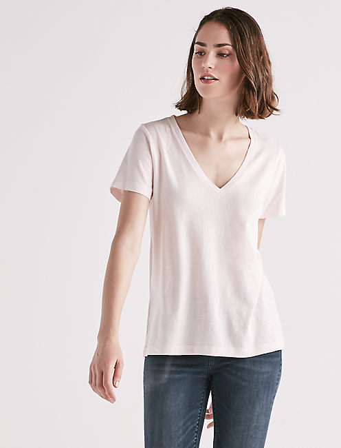 Lucky Lucky Splice Back V Neck