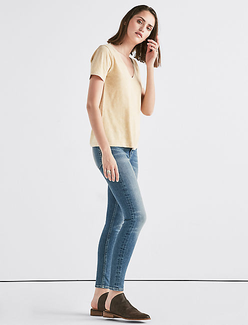 Lucky Mustard Washed V-Neck