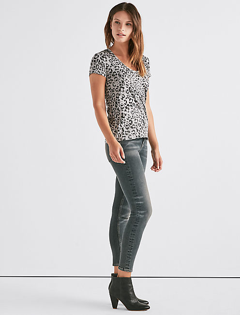 Lucky Leopard Scoop Neck Tee
