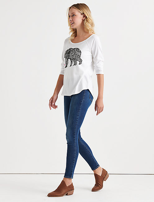 ROSE BEAR RAGLAN TEE,