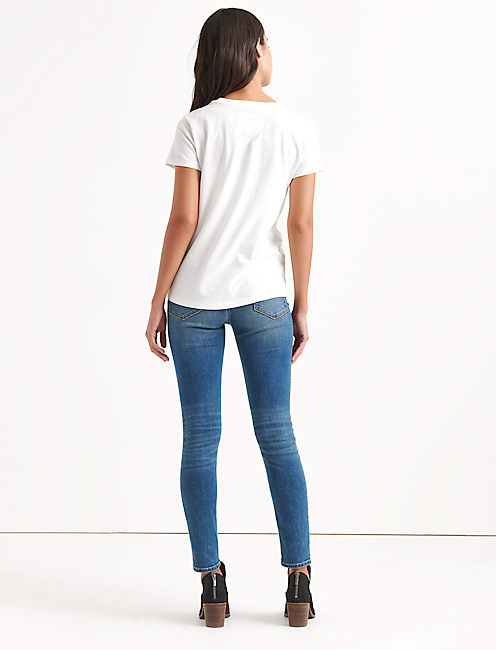 Totally Lucky Wear The Clover V-Neck Tee,