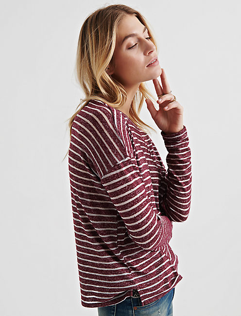 Lucky Burnout Striped Pocket Tee