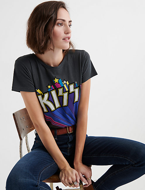 KISS FLOCKED TEE,