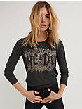 ACDC FLORAL TEE, 001 LUCKY BLACK