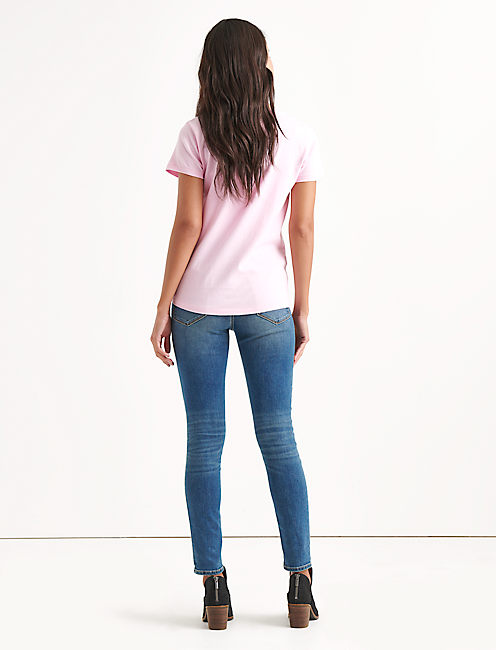 Totally Lucky Logo Tee, PINK LADY