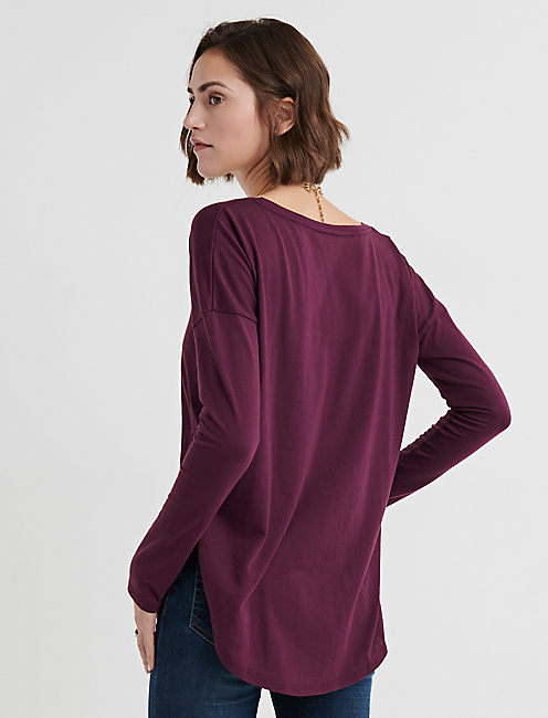 LONG SLEEVE TEE, POTENT PURPLE