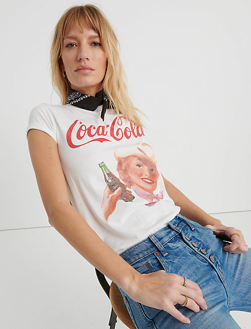 COCA COLA COWGIRL TEE, LUCKY WHITE